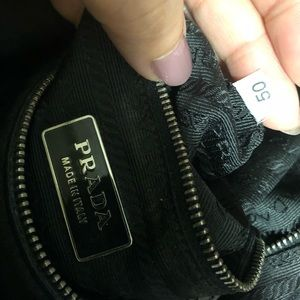 Prada Bags - Prada Tessuto Bag with Woven Leather Strap